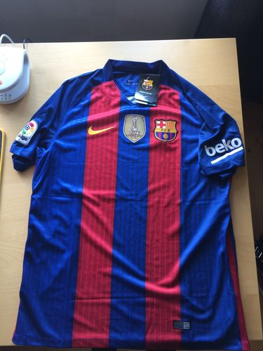 brand new 15178 5789c Barcelona 16/17 Home Soccer Jersey (Club World Cup Patch ...