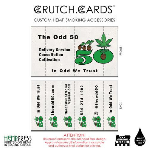 Crutch cards are custom hemp rolling tips hemp paper business cards the odd 50 reheart Choice Image