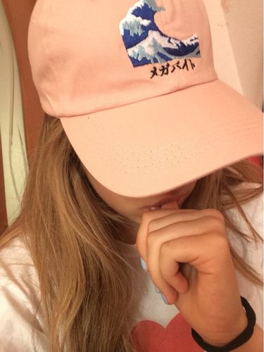 c349906dc3408 Wave Emoji Dad Hat
