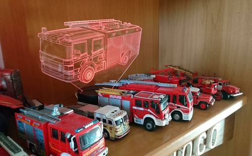 FIRE TRUCK 3D Lamp 8 Changeable Colors Big Size [FREE SHIPPING]   Reviews