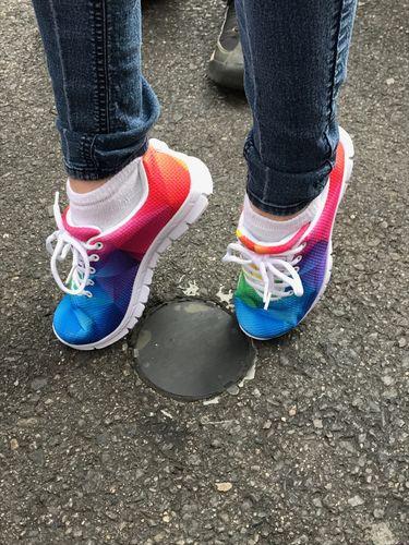0a8ac67e135b63 ... Rainbow Gay Pride Men s Sneakers   US11 (EU45). Carina L.