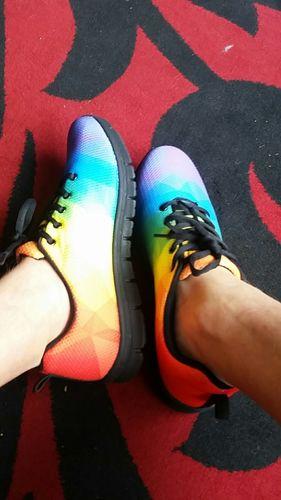 Vibrant Rainbow Pride sneakers