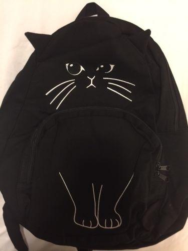 9b0b844bd3 4 Colors Cute Kawaii Cat Canvas Backpack SP166888 - SpreePicky