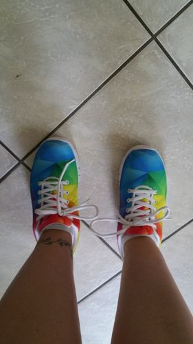 9f05a01bf0 Rainbow Gay Pride Sneakers.