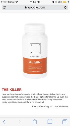 The Killer (boric acid suppositories) - Reviews