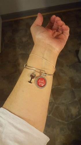 201a12932ce22 Friends Are Family We Choose Wine Charm Bracelet - Reviews