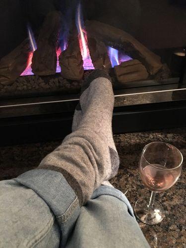 501c28bcb260 Ladies Lambswool Grey Glitter Knee Socks