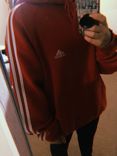 1a47b60154c54a Adidas Hooded Sweatshirt Red Large