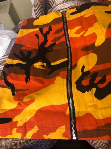8b09e93609cba Camo Mini Skirt - Orange