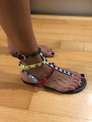277385b1c403 LePastell - Reviews. Luxury Designer Rock Stud Gladiator Sandals
