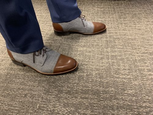 034b5cca8df Josh Walnut Cap-Toe Derby Shoes
