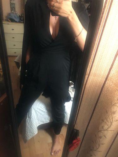 a939677012 Black Elegant Long Sleeve Maxi Jumpsuit