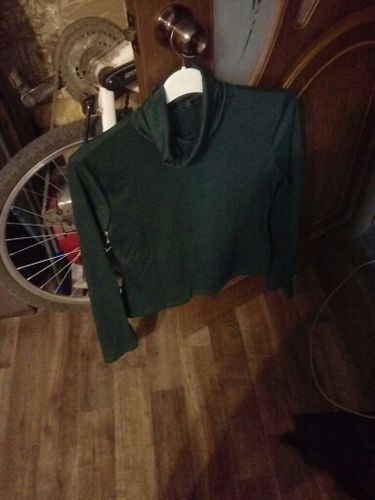 a11c99c79b Green Long Sleeve Slim Fit Casual Top