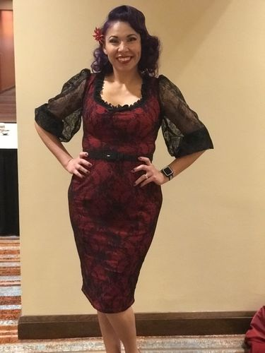 8fb64b5a7b538 Decadence Wiggle Dress in Red - Vixen by Micheline Pitt - Reviews