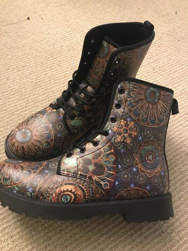 Mens Galactic Flower Of Life Sneakers Ushopcafe