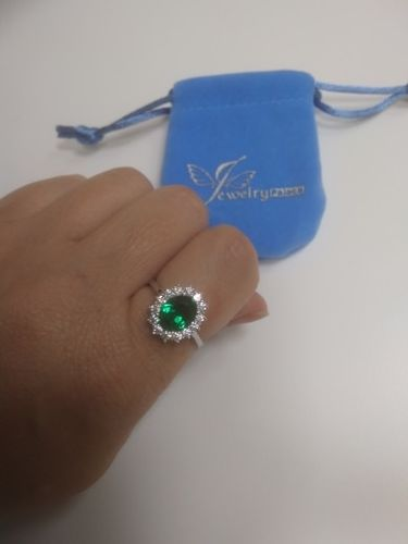 Princess Diana Emerald Silver Ring Cool And Crazy Trends