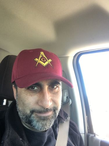 Mason Hat Maroon Baseball Cap with Masonic Logo Freemasons Shriners Prince  Hall Lodge Headwear 3cc5d3598e1b