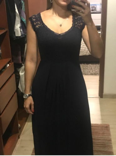 acf097899757 Vintage Deep-V Neck Wedding Party Maxi Dress – Miusol