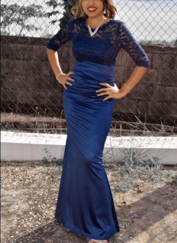 Miusol Womens Retro Floral Lace Halter Ruched Wedding Maxi Dress