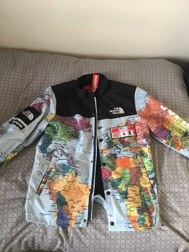 Dope gentleman reviews world map north face x supreme windbreaker gumiabroncs Images