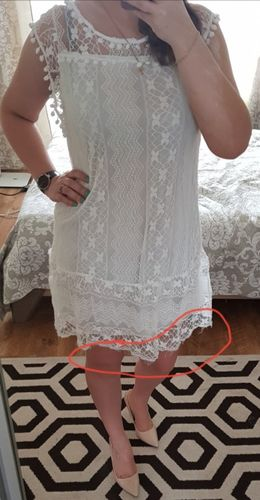3386374df06 Boho Chic Bohemian Loose Casual White Embroidery Dresses Handmade Crochet  Dress