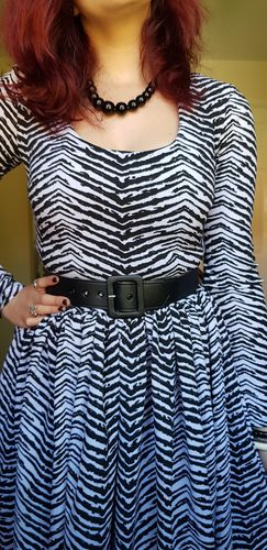 8caef65ce1 FINAL SALE - Troublemaker Swing Dress in Zebra Print - Vixen by ...
