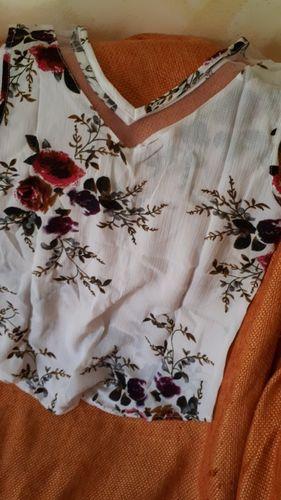 d5ab23e1bf2f Free Ostrich Women Chiffon Shirt Floral Casual Sleeveless Blouse 2018  summer tops Fashion D10