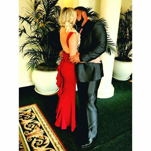 Perfect Duet Bow Back Maxi Dress In Red 7534ef823