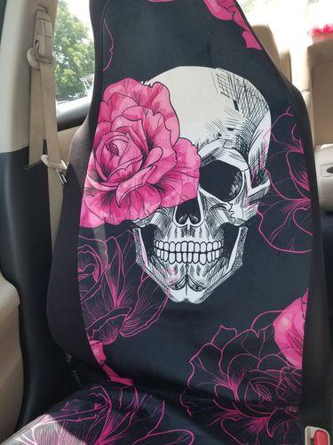 Pink flower skull car seat covers reviews alissa f mightylinksfo