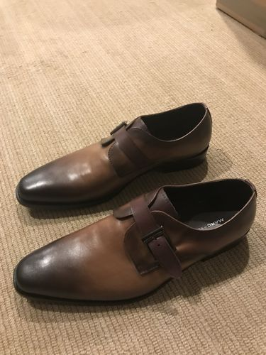 46cbe4f11a2 Greyson Walnut Single Monk Strap Derby Shoes. Pierce Grey Penny Loafers