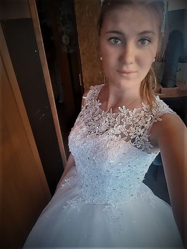 Fansmile Korean Lace Up Ball Gown Quality Wedding Dresses 2017 Alibaba  Customized Plus Size Bridal Dress Real Photo FSM-002F 4131cd8fc7ee
