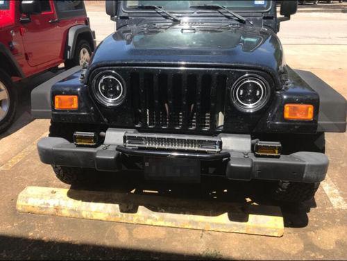 Halo Lights For Jeep Wrangler >> Led Halo Headlights W Drl Amber Turn Signals For 97 18 Jeep Wrangler Tj Jk