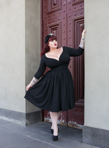 4e39e70afa Starlet Swing Dress in Black - Vixen by Micheline Pitt