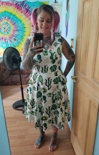 241d3ffbf84 Cactus V-Neck Dress by Eva Rose