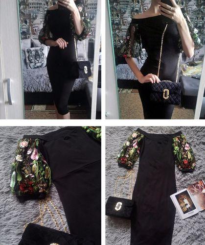 babfe27767ed Floreal COLOR - Vestito con maniche trasparenti – Straik Store