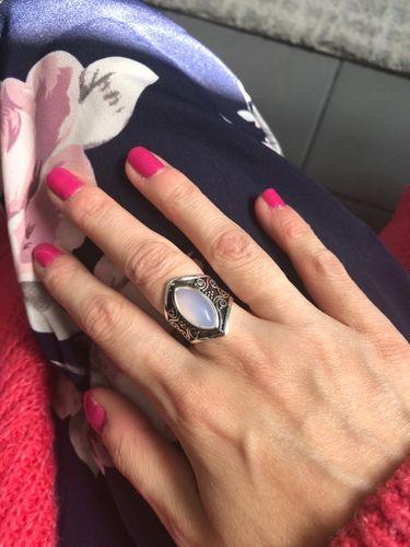 6190655ca Vintage Tibetan Silver Big Healing Crystal Rings Boho Antique Indian ...