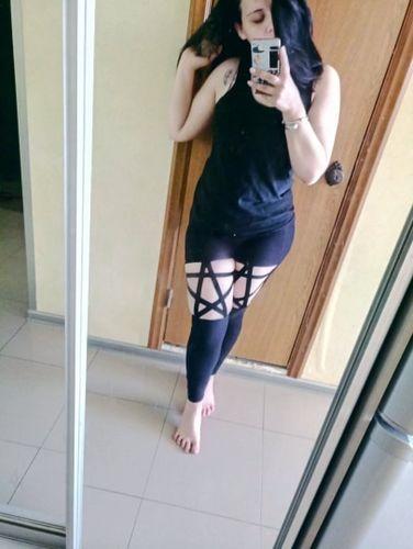 9028b0ed388 Nu Goth Hooded Tunic Cloak. AntiCross Tunic. Hollow Out Star Leggings.  Hollow Out Star Leggings
