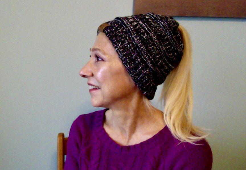 Christina J. review of Soft Knit Ponytail Beanie