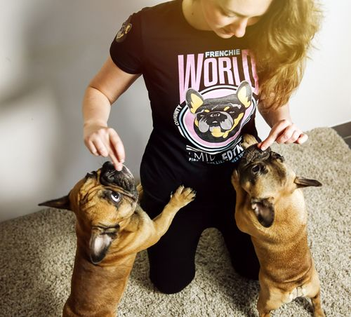 caac18161eae Frenchie World Community Member Women s Tee · French Bulldog ...