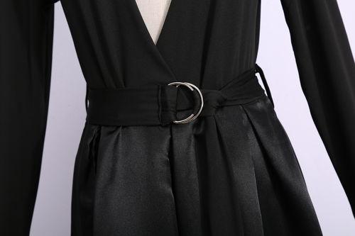 4329507f15 Sexy Long-Sleeved Waist Open Slit Evening Dress