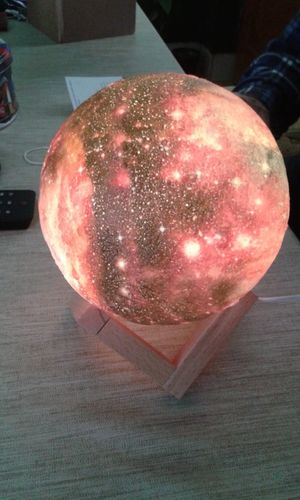 Avaleen H review of Galaxy Print Moon Lamp