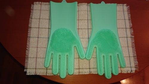 Amber Drake review of Silicone Scrubber Bristly Gloves