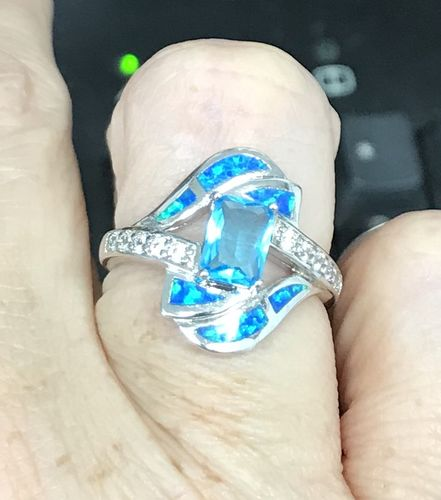 Randi n. review of Blue Sapphire Opal Ring