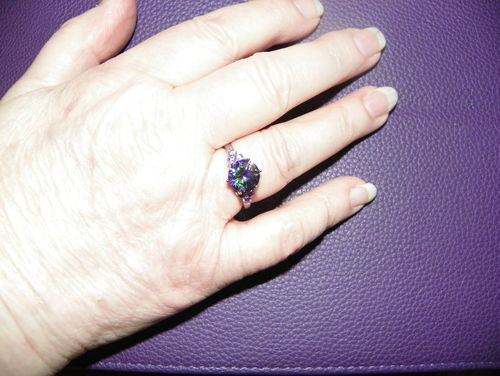 Patricia A. review of Mysterious Rainbow Topaz & Amethyst Silver Ring