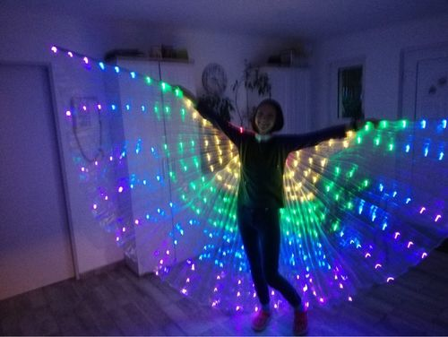 E***a review of Rainbow Wings - LED Butterfly Costume