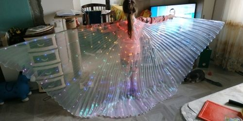 O***n review of Rainbow Wings - LED Butterfly Costume