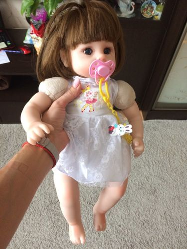 18in Lisa Reborn Baby Doll Girl, Cloth Body Silicone Realistic Handmade Babies Dolls