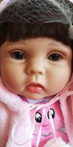 NPK DOLL 18in Mallory Reborn Baby Doll, Full Body Silicone Realistic Handmade Babies Dolls