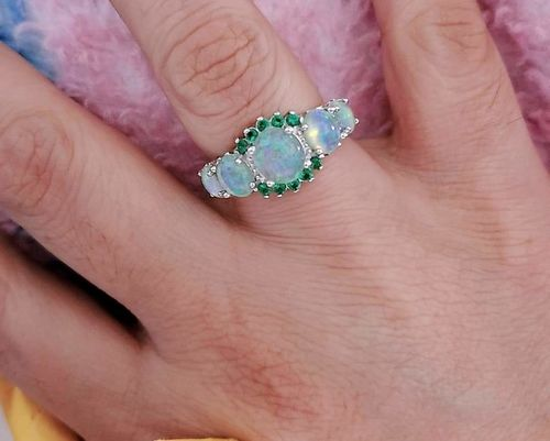 Edith S. review of Green Fire Opal & Emerald Ring