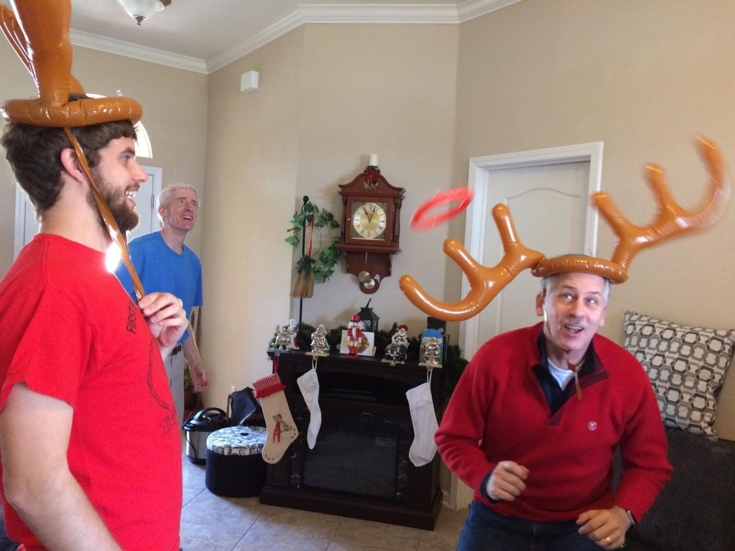 stephane B. review of CHRISTMAS SALE - 49% OFF - Christmas Reindeer Antler Ring Toss Game